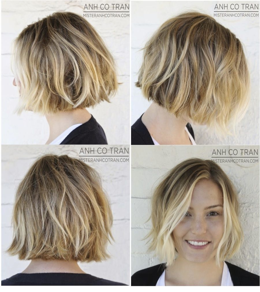 Blond Wavy Bob My Style In 2019 Cheveux Courts