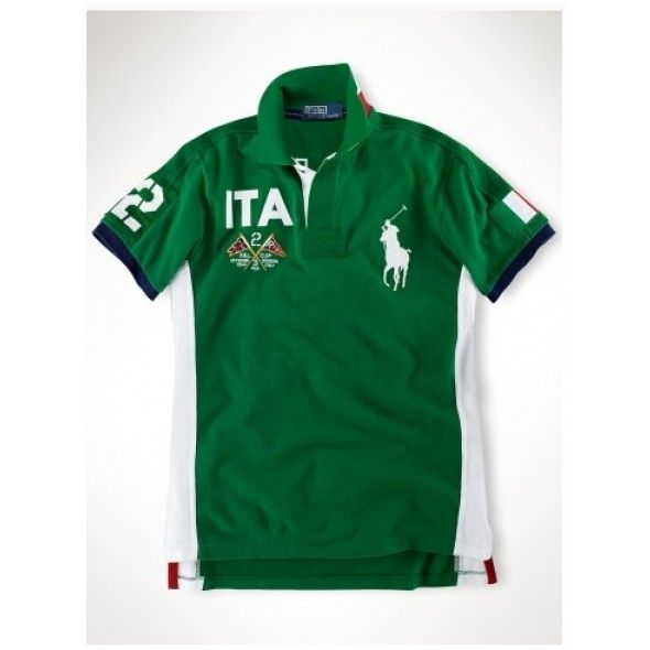 Ralph Lauren ITA Signature Big Pony Green Sporty Polo http://www.ralph