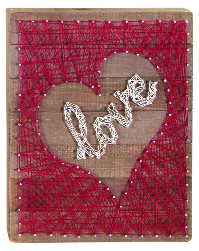 Love String Art 12x15 Box Sign Home Decor Pinterest String