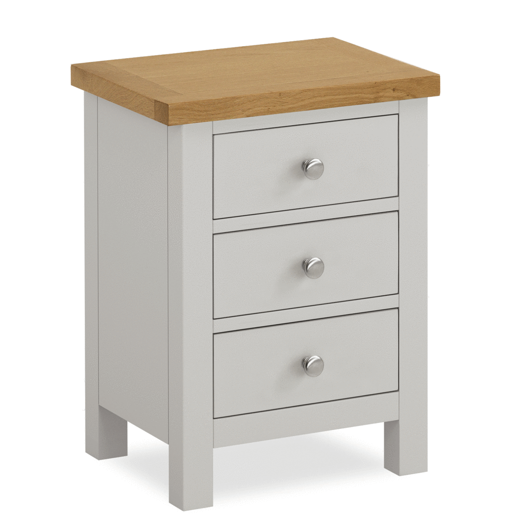 Farrow Grey Bedside Table With Images Oak Bedside Tables Grey Painted Bedside Table Painted Bedside Tables