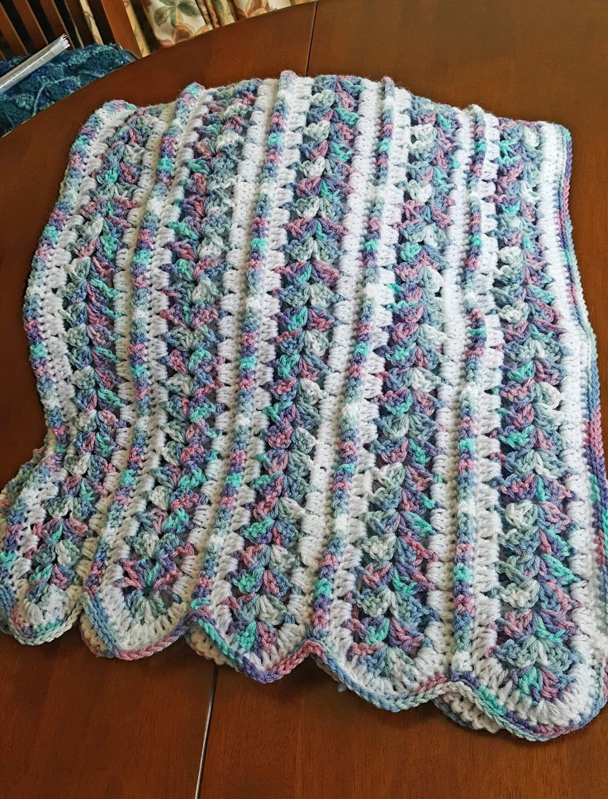 Crochet, baby blanket, mile a minute blanket, mile a minute afghan ...