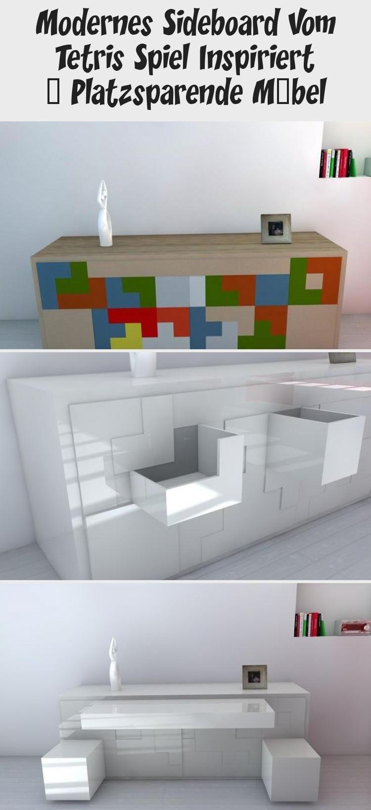 modernes sideboard vom tetris spiel inspiriert