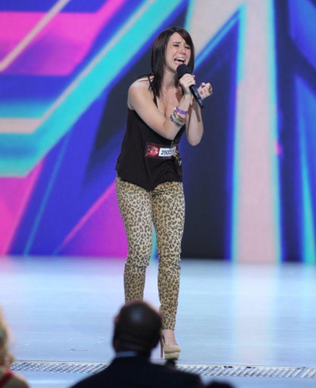 Jillian Jensen on The X Factor USA in Dollhouse Cheetah Print Denim! Photo: Fox