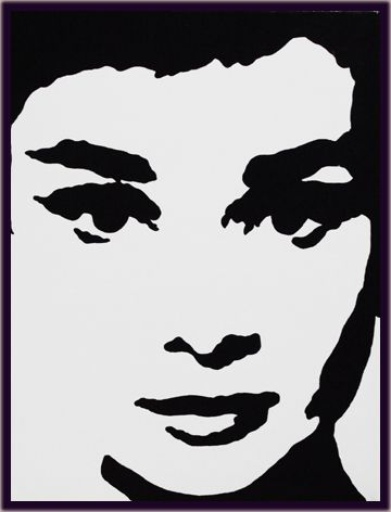 audrey hepburn silhouette - Google zoeken | Schilderijen ...