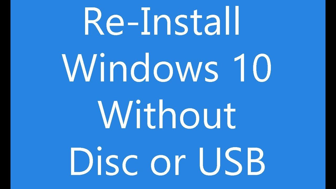 Reinstall Windows 10 Without An Installation Disc Or Usb Computer Troubleshooting Hacking Computer Windows Computer