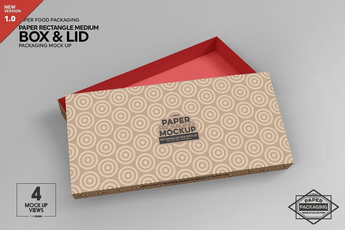 Download Fliptop Window Box Mockup Packaging Mockup Paper Box Free Packaging Mockup