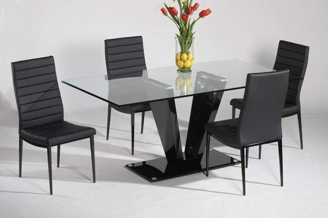How To Find The Right Modern Chairs For Your Table Modernchairs Interiordesign Inspirat Modern Glass Dining Table Modern Dining Table Set Dining Table Black