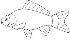 Fish outline printable. Clip art black and