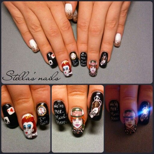 Sculpted Acrylic Nails! All Nail Art Is Handpaintedand
