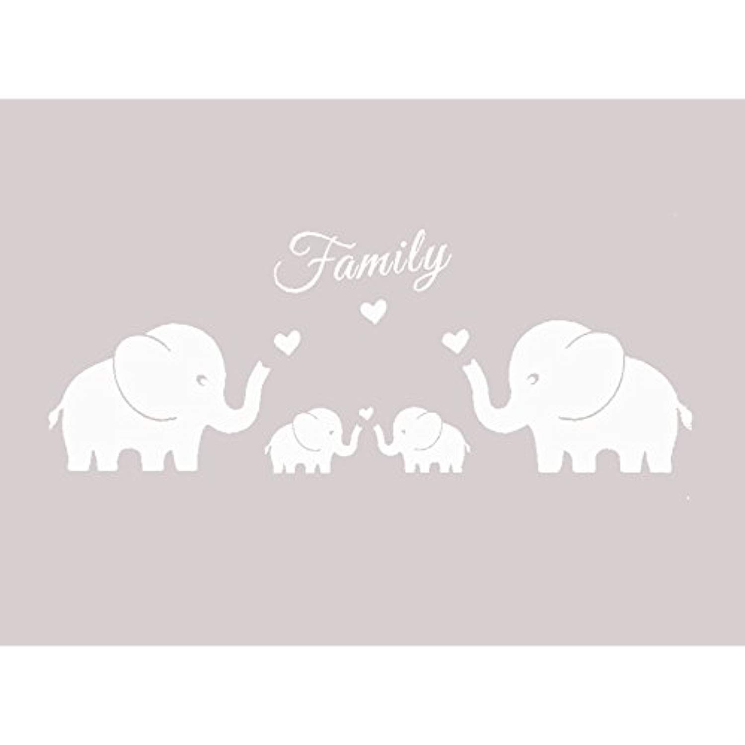 84e5ab24d7209 MAFENT 4 Cute Elephants Family Wall Decals Parents and Twins ...