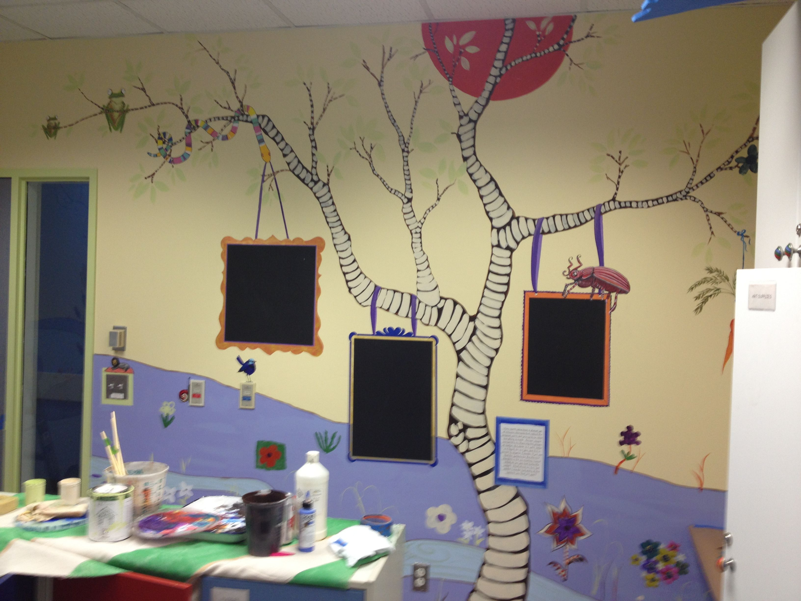 Oakland Childrens Hospital Playroom Mural For Rooms That Rock For