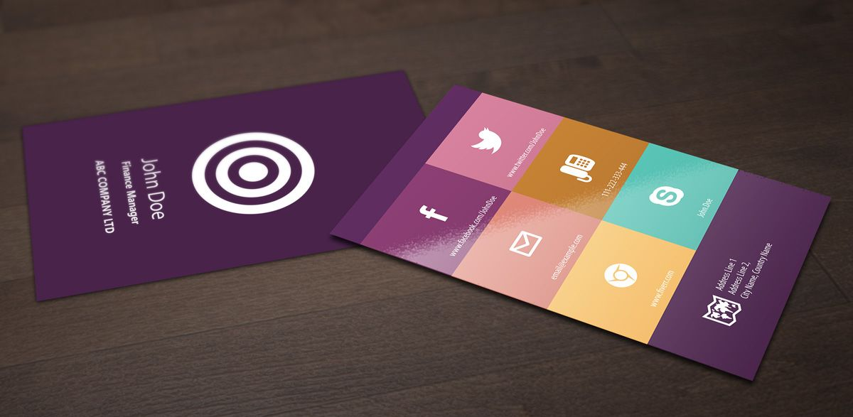 xerone: design Colorful Flat Business Card for $5, on fiverr.com ...