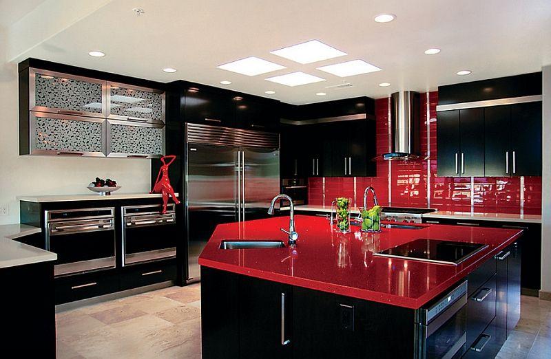 Cucine di lusso moderne - Cucina di lusso moderna rossa | Red ...