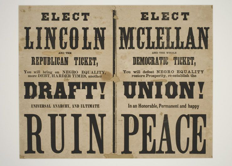 Presidential Election Posters From History Abraham Lincoln Vs