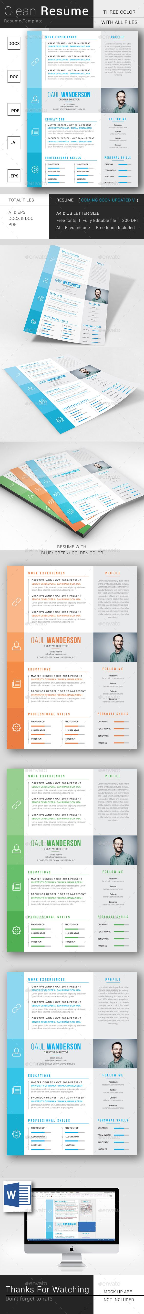 Simple Resume/CV | Resume Templates | Pinterest | Plantilla cv ...