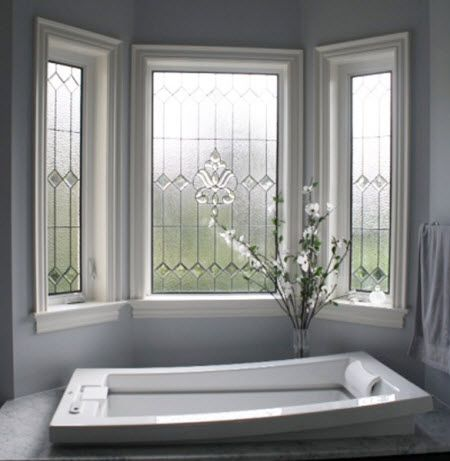 stained glass bathroom windows - Bathroom Window