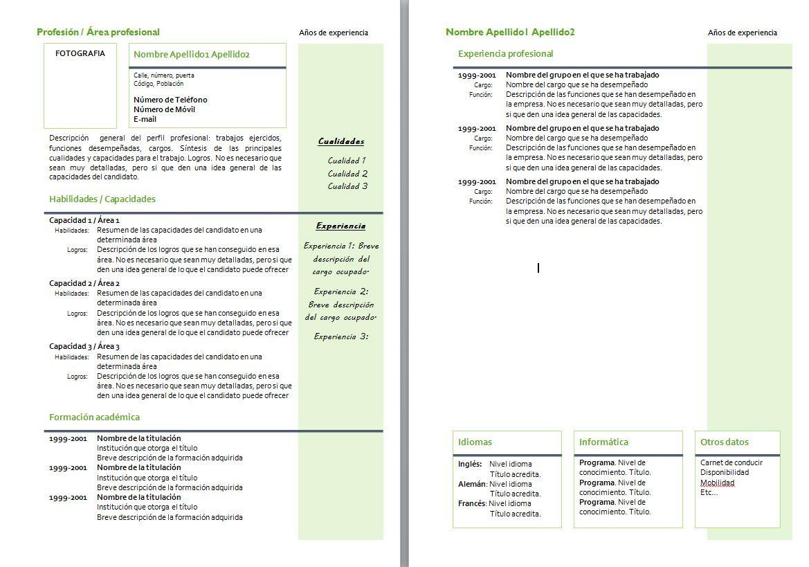 Modelos Curriculum Vitae Moderno Ecro Pelautscom Picture | Proyectos ...