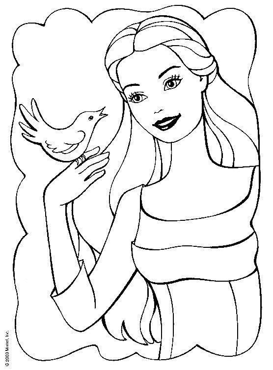 barbie coloring pages - Barbie Coloring Pages To Print