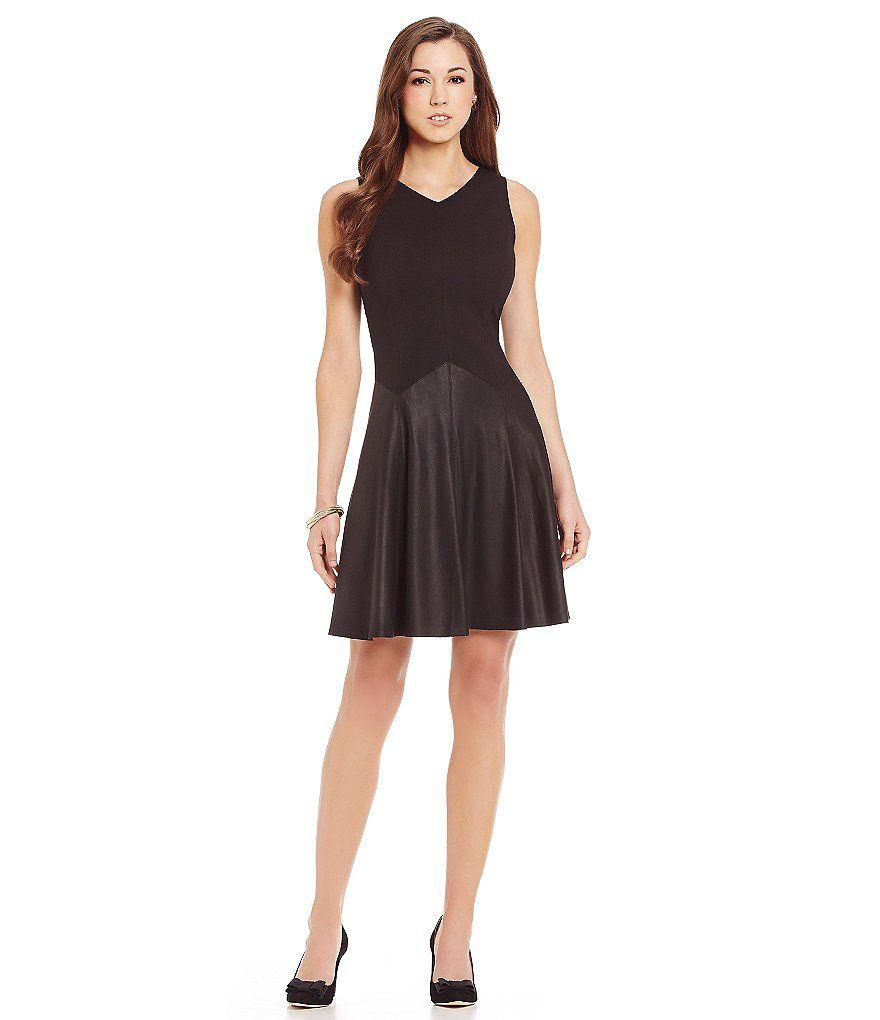 32c5c1cff732 Antonio Melani Judith Ponte/Leather Dress | Antonio Melani | Dresses ...