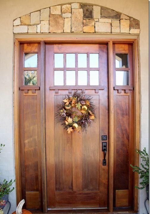 21 ideas para tener una puerta de entrada de madera Puertas de - fachada madera