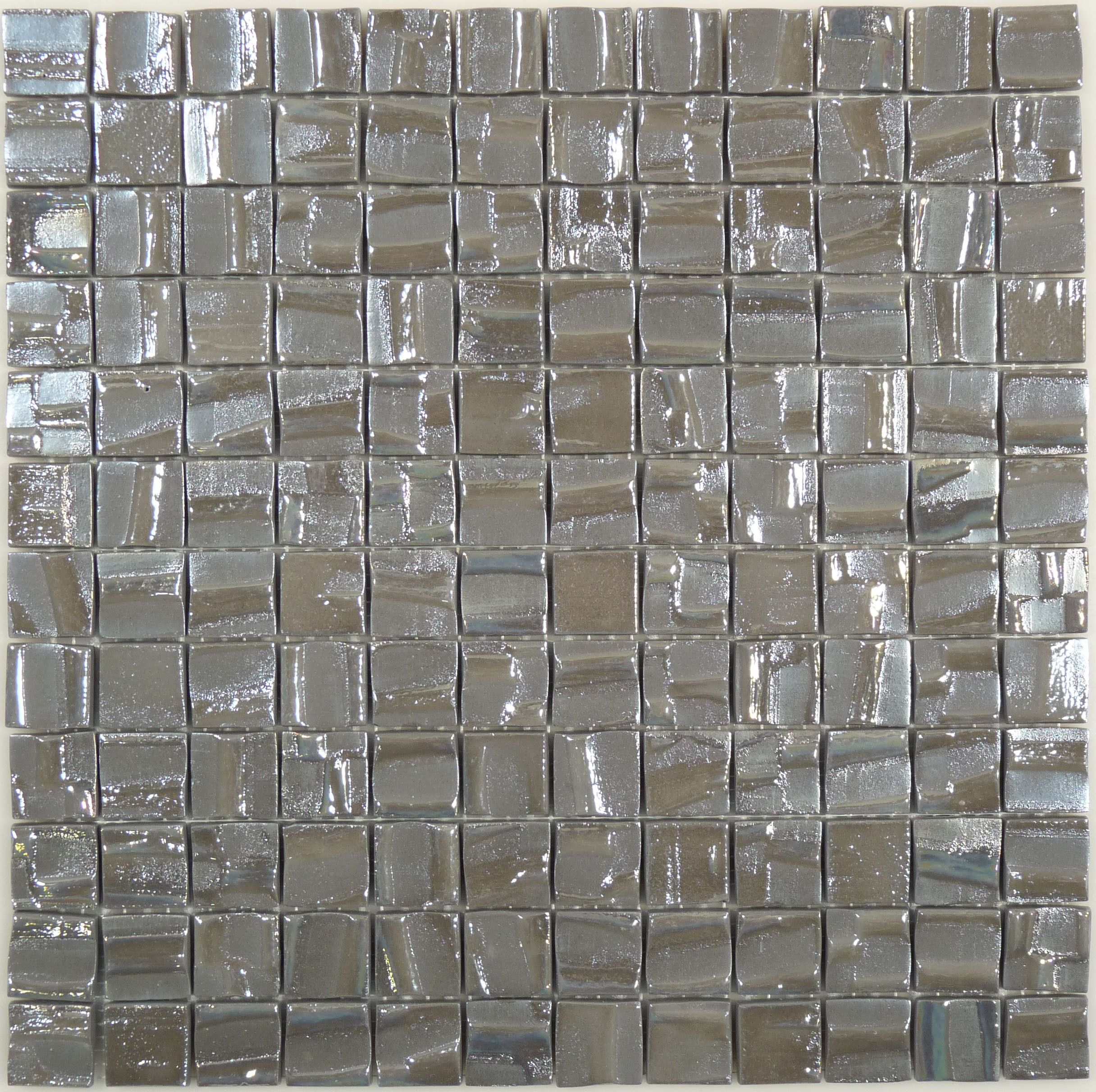 Sheet Size 12 1 X2f 2 Quot X 12 1 X2f 2 Quot Tile Size 1 Quot X 1 Quot Tiles Per Sheet 144 Iridescent Tile Glass Tile Grey Glass
