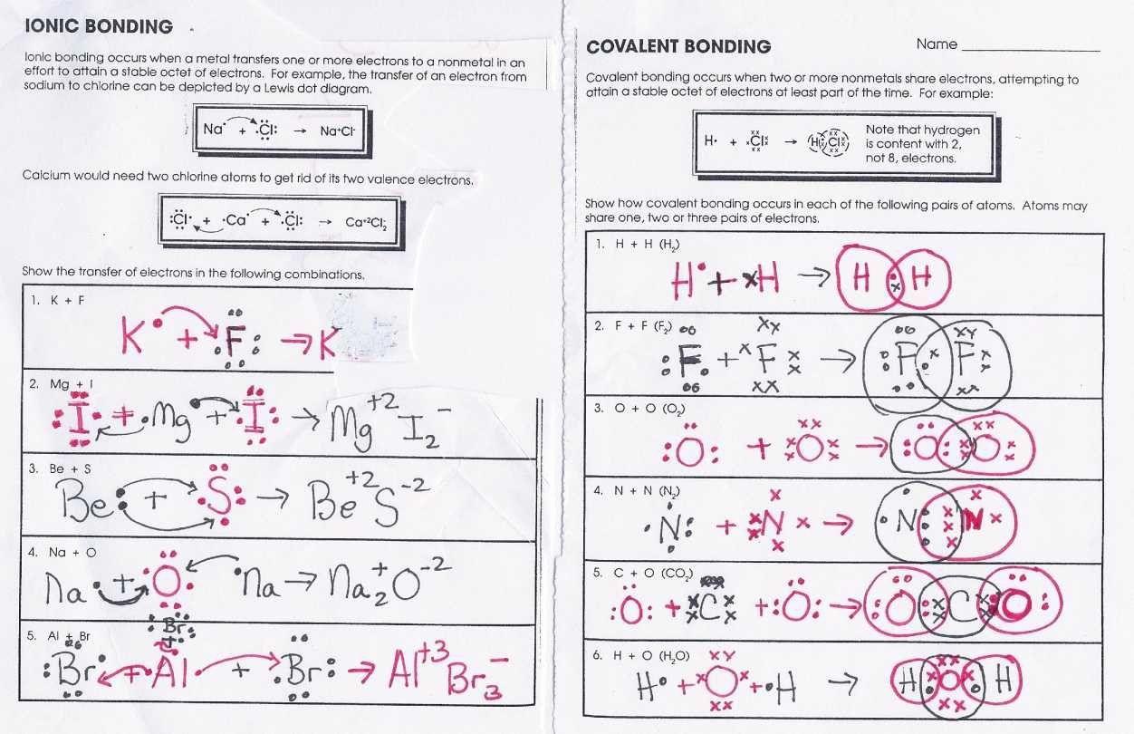 Covalent Bonding Worksheet Answer Key Unique Covalent
