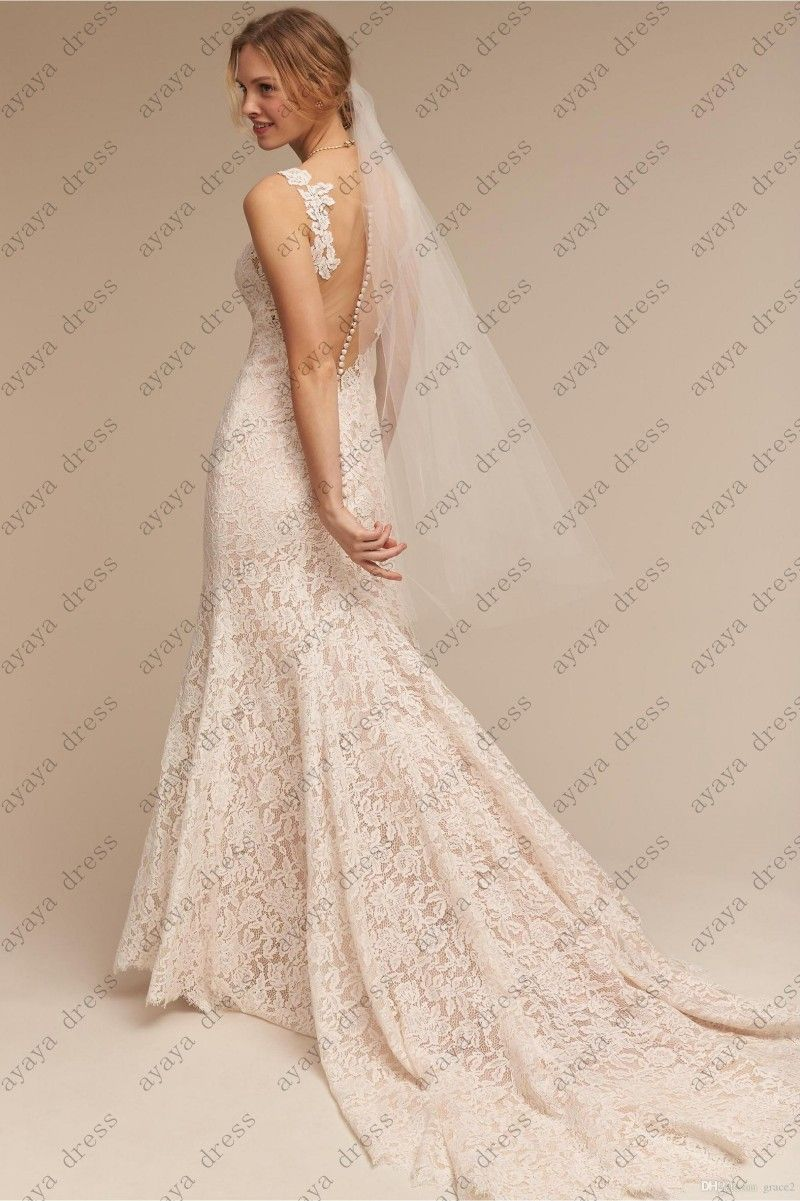 Click To Buy << Wejanedress Ivory Long Lace Wedding Dress 2017 Trajes De: Clic Lace Strapless Wedding Dresses At Websimilar.org