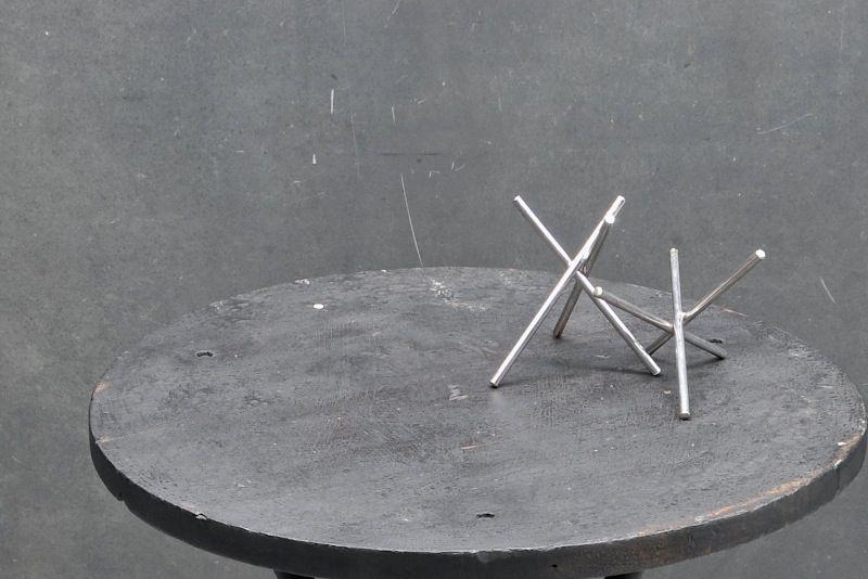 sculpture rod Vintage steel