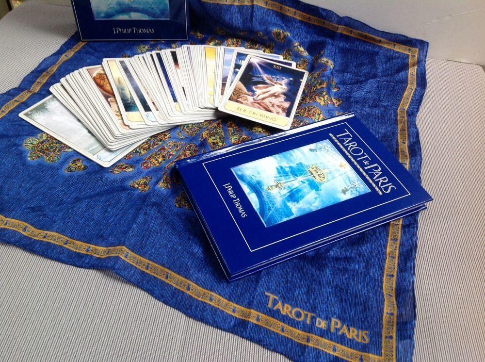 Tarot de Paris Cards deck and book set RARE J. Phillip