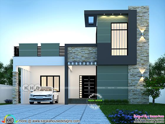 3 Bedroom 1891 Sq Ft Modern Home Design In 2020 Small House Elevation Design Small House Design Exterior Small House Front Design