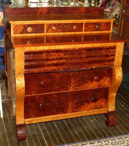 1850 S Antique Cherry Birdseye Maple Chest Of Drawers Dresser Hand Dovetailed Ebay Dresser