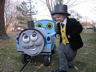DIY Thomas the Tank Engine u0026 Sir Topham Hatt Halloween Costume & DIY Thomas the Tank Engine u0026 Sir Topham Hatt Costume | Getting ...