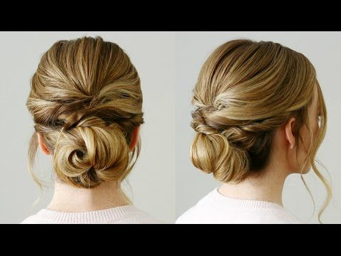 twisted knot low bun  missy sue  youtube  bridesmaid