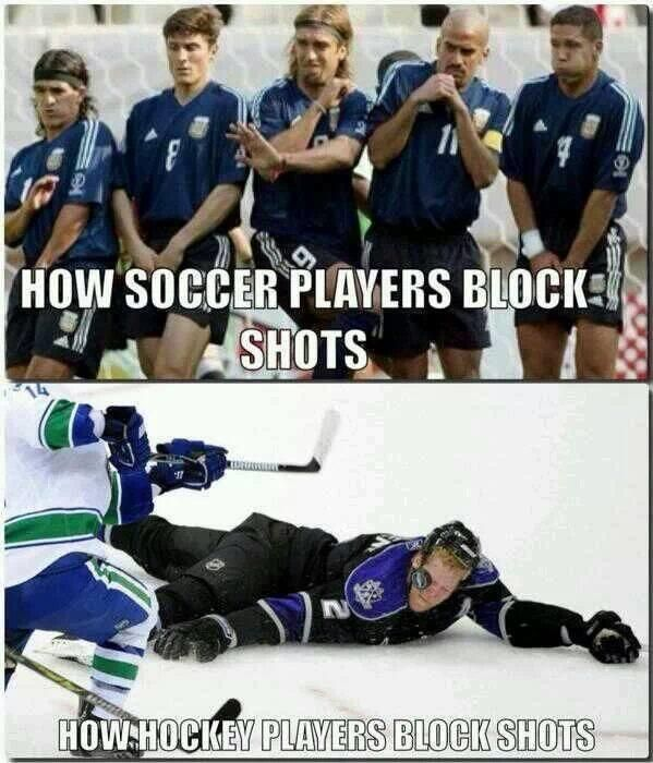 Soccer Vs Hockey Hockey Humor Funny Hockey Memes Hockey