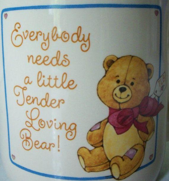 Vintage Hallmark Teddy Bear Mug 9 oz. 1980s by IcicleGarden