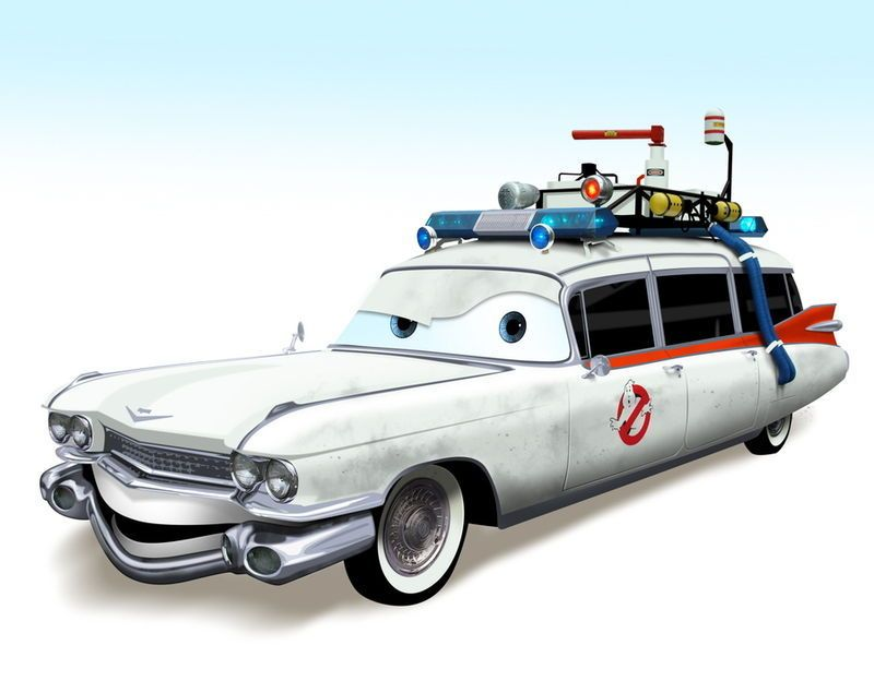 Pixar Car As Ecto 1 Drawing By Ianscott76 Deviantart Cars