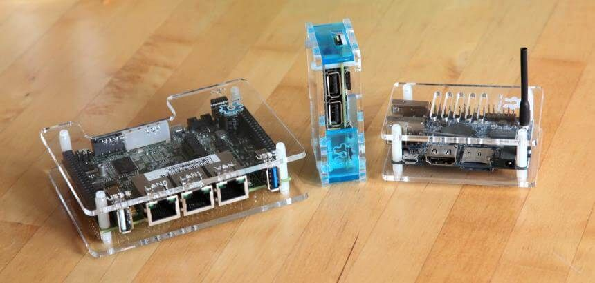 L-R: Marvell ESPRESSObin, Raspberry Pi Zero+hub, Orange Pi