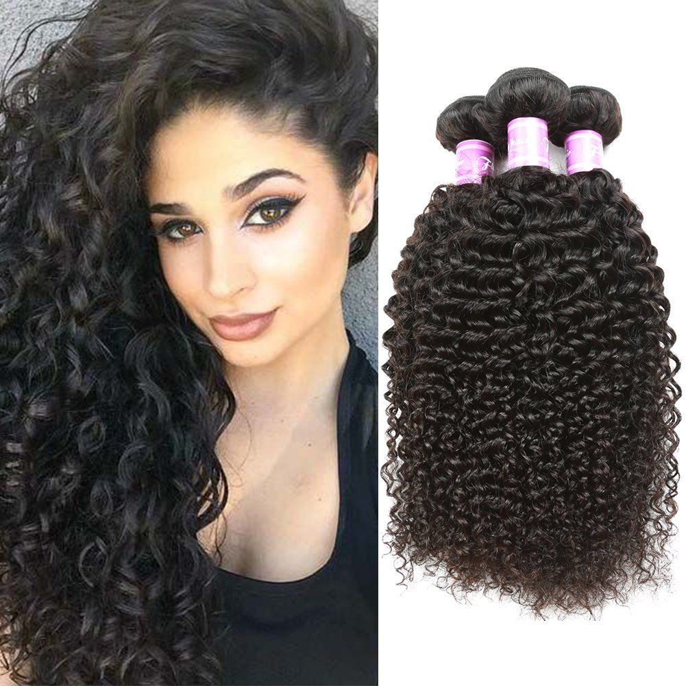 Flady 7a Peruvian Virgin Curly Hair 3 Bundles Unprocessed Peruvian