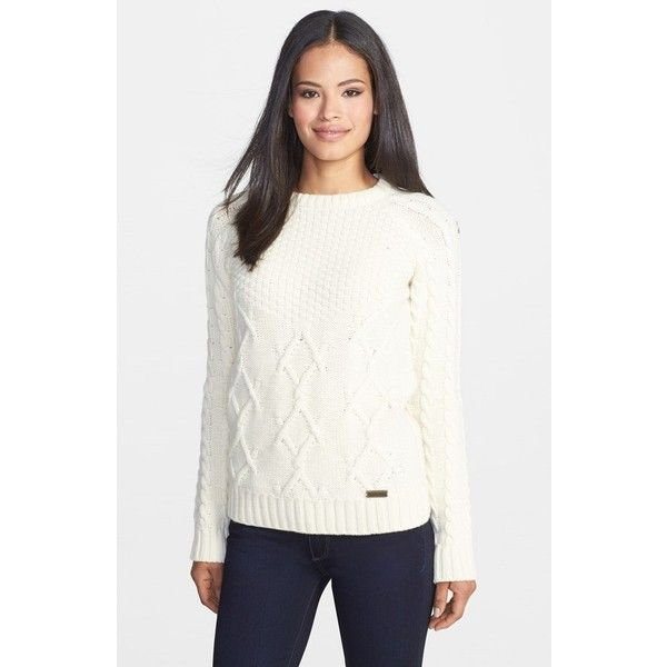 Barbour 'Ursula' Mix Stitch Sweater and other apparel, accessories and trends. Browse and shop related looks.