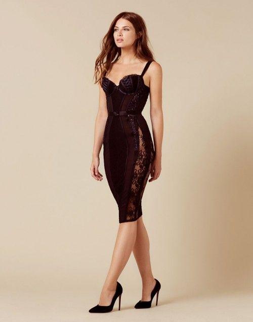 eb0dab0f46 Peachy Black Dress