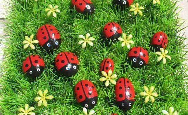 Piedritas de colores con el dise o a escoger para decorar for Guijarros de colores para el jardin