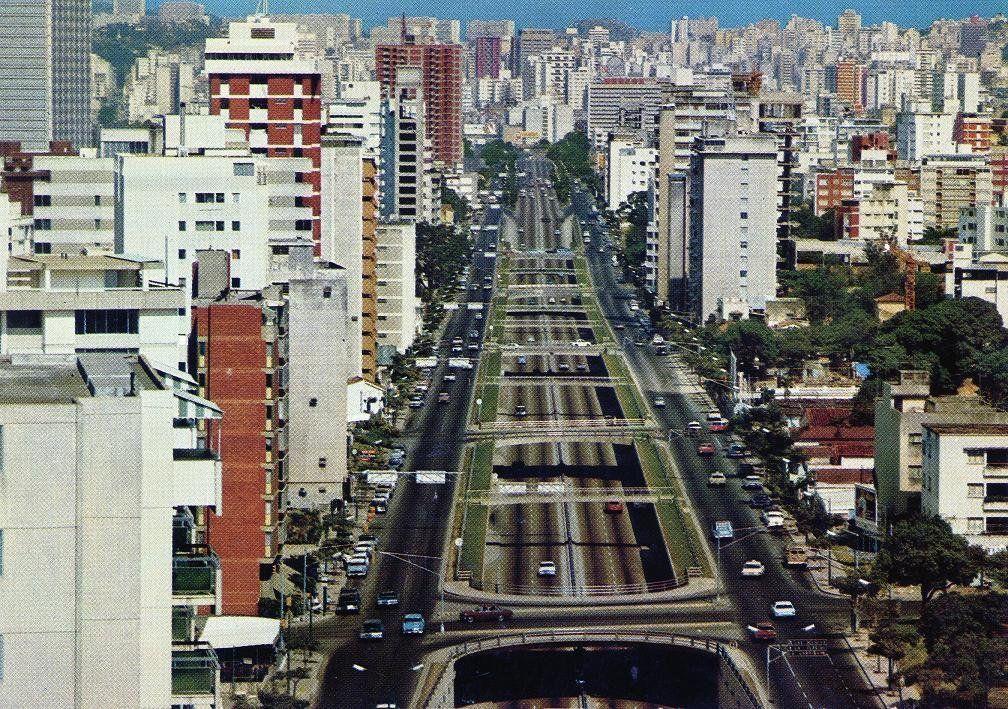 Postal Avenida Libertador Caracas Venezuela Col
