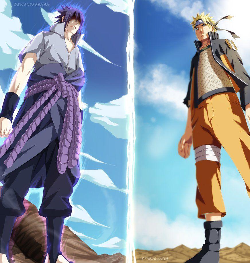 Naruto 694 Sasuke vs Naruto by StingCunha on DeviantArt