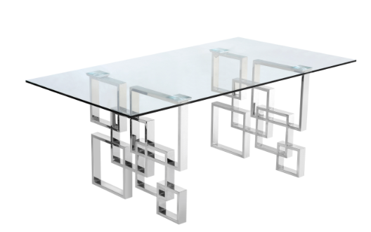 Quaid Dining Table Stainless Steel Dining Table Dining Table