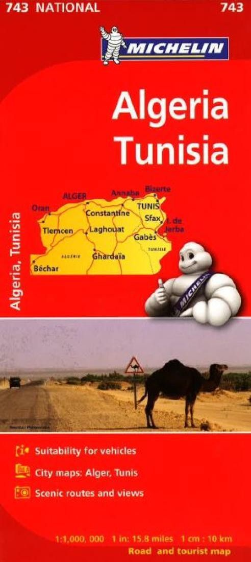 Map Of Poitiers%0A Algeria and Tunisia       by Michelin Maps and Guides