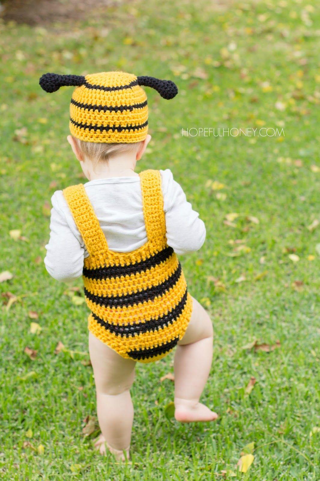 deebc3e10 Bumble Bee Baby Hat   Playsuit Set Crochet Pattern