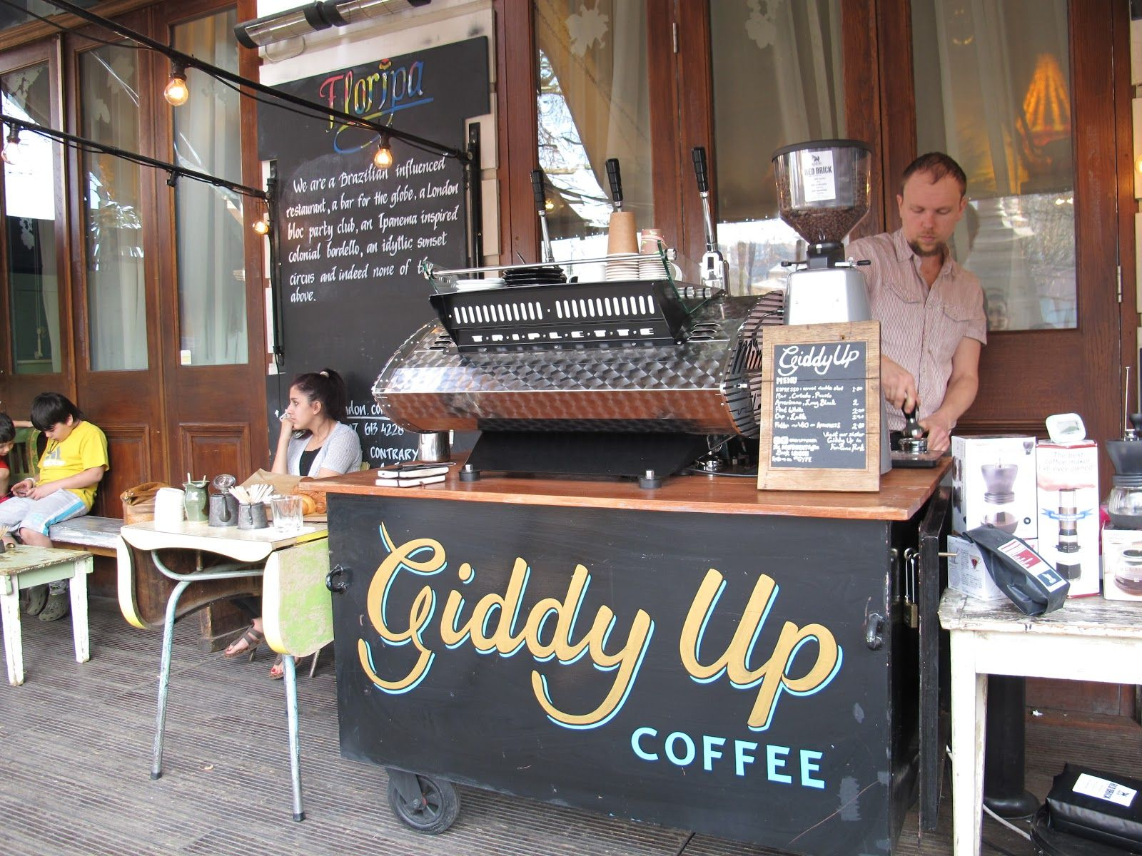 Came Across This Giddy Up Coffee Cart Love The Chalkboard