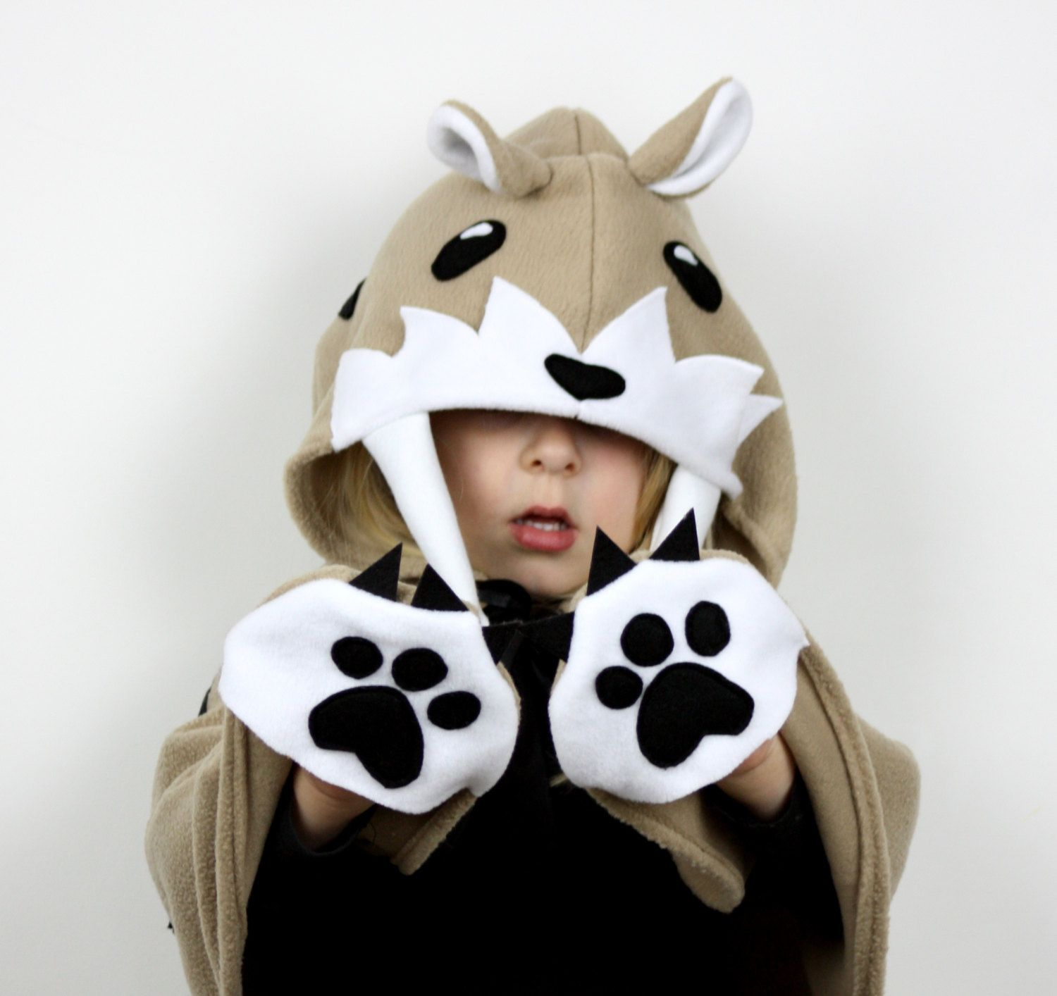 Saber Tooth Tiger Kids Costume - Childrens halloween fancy dress up by sparrowandbcostumery on Etsy   sc 1 st  Pinterest & Saber Tooth Tiger Kids Costume - Childrens halloween fancy dress up ...