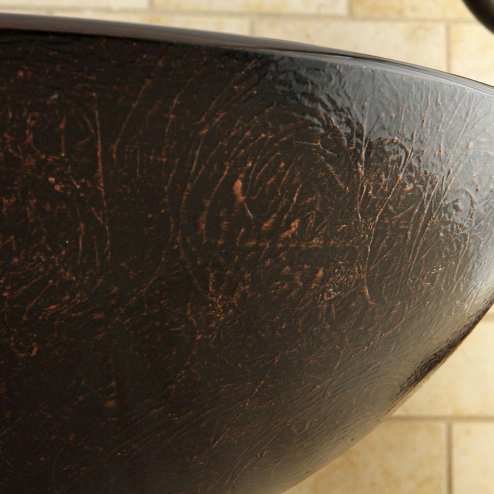 Amber Bronze Vessel Bathroom Sink | Overstock.com Shopping - The Best Deals on Bathroom Sinks