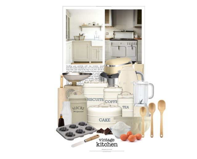 """""""Le Plaisir De Cuisiner / The Pleasure Of Cooking"""" by halfmoonrun ❤ liked on Polyvore featuring interior, interiors, interior design, home, home decor, interior decorating, Swan, Typhoon, Vietri and Smeg"""